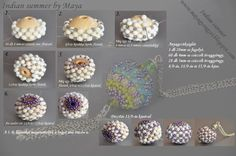 beaded bead one page tutorial