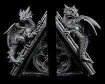 Drachen Buchstützen - dreieckig
