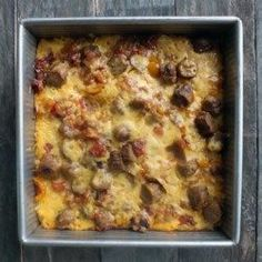 Hash Brown and Egg Casserole.  I will use fake sausage or broccoli.