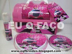 Limousine Rosa - Brindes e Lembrancinhas: Kit Maquiagem Limousine Rosa