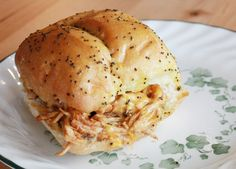 Brushed and Baked BBQ Chicken Rolls