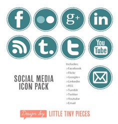 social media icons for blogsite