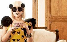 Gaga's Mickey Mouse Ears