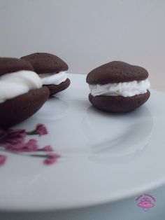 Dulces felicidades: #Whoopie pies de #chocolate