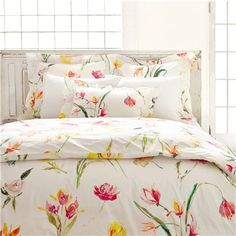 Pine Cone Hill Watercolor Flowers Duvet Cover $188.00
