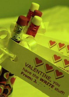 Corny but Cute Valentine Idea for School