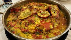 Lobster paella - me gusta mucho! Spanish Food, Paella, Ethnic Recipes, Restaurants, Hispanic Kitchen
