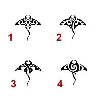 Tatuaggio di Piccole mante, Libertà, eleganza tattoo - TattooTribes.com. Tiny mantas!