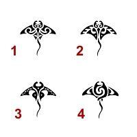 Small manta rays tattoos