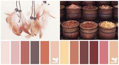 warme Erdfarben für die Küche