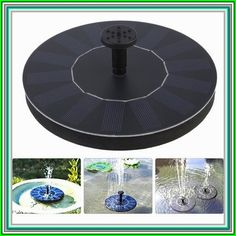 Cnmodle Solar Power Floating Water Pump Round Panel With 4 Nozzles For Fountain Pool Garden Pond Submersible Aquarium, Silver Solar Powered Water Pump, Solar Water, Solar Powered Lights, Energy Companies, Help The Environment, Solar Energy System, Diy Solar, Water Tank, How To Run Longer