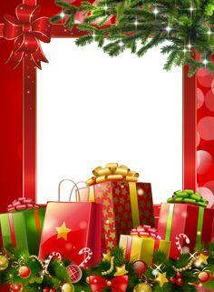 Beautiful PNG Christmas Photo Frame - Sognando i Sogni. Free Christmas Printables, Christmas Templates, Christmas Clipart, Merry Christmas Images, Christmas Pictures, Christmas Greetings, Christmas Border, Christmas Swags, Christmas Decorations