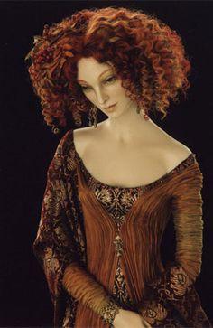 Autumn doll detail by Alexandra Koukinova