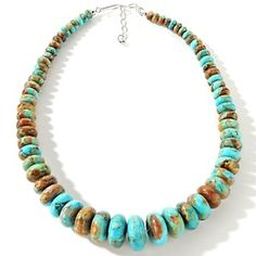 "Jay King Boulder Turquoise Sterling Silver 21-3/4"" Necklace at HSN.com."