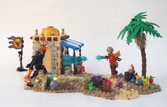 https://flic.kr/p/SaLgce | Battle in the Streets of Hudastana | A mediocre MOC I made, intended for the Tourney but I didn't use it that way.  I like a couple things, but a lot of it I feel is just off.. particularly the ninja.