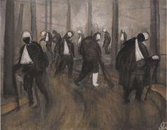 Jāzeps GROSVALDS | Latvian | Latvia 1891 – Paris, France 1920 | Post-Impressionism, Modernism.  Šausmu aleja (Horror Alley/ Sad Soldiers), 1916