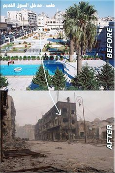 From pinterest.com/pin/544161567450047890/: Aleppo before and after | Syria | Pinterest, From Images