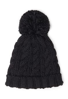 Cable Knit Pompom Beanie | FOREVER21 - 2055878483