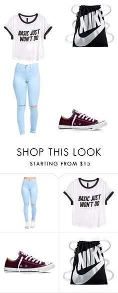 """O2L meet and greet"" by dolan-twin-lover455 ❤ liked on Polyvore featuring H&M, Converse and NIKE"