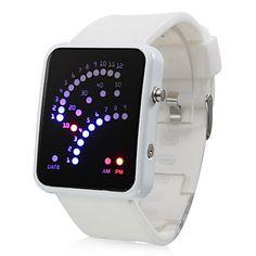 EUR € 8.27 - Farbe Band 29 blaue und rote LED-Bereich Muster geführt Armbanduhr, alle Artikel Versandkostenfrei!