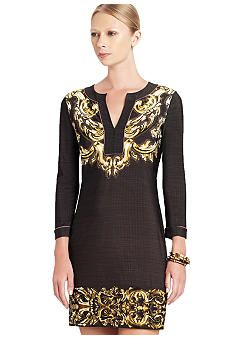 BCBGMAXAZRIA Hayden Printed Shift Dress #belk #patterns