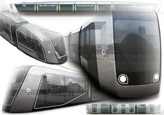 Sketches we like / Train / render / Digital Artwork / at Concept tram ( Alstom work ) on Behance