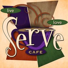 Design for a Foyer Cafe.  This was used in multiple locations as well as a very large 3 dimensional sign above the coffee bar.
