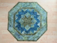 Quilted Reversible Table Topper  Mystic Batik      by QuiltinWaYnE, $52.00