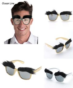 [Visit to Buy] Funny Bushy Eyebrows Costume Glasses Photo Booth Props Party Cosplay Mask Favors Accessories Festival Party Supplies Decoration #Advertisement