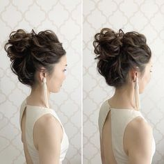 Short Messy Updo with Headband Braid - 60 Gorgeous Updos for Short Hair That Look Totally Stunning - The Trending Hairstyle Bridal Hair Updo, Wedding Hair And Makeup, Wedding Up Do, Asian Bridal Hair, Wedding Season, Short Hair Updo, Short Hair Styles, Hair Arrange, Hair Setting
