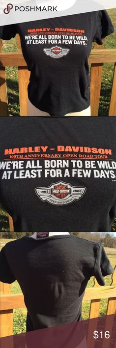 Harley Davidson Born To Be Wild Shirt Size Medium Size medium. Super gently preowned. Be sure to view the other items in our closet. We offer both women's and Mens items in a variety of sizes. Bundle and save!! Thank you for viewing our item!! Harley-Davidson Tops Tees - Short Sleeve