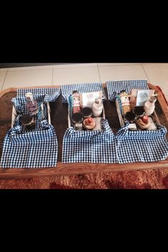 Indoor breakfast picnic, as it was too cold outside. DIY baskets and table runners as basket cloths. hubby was quite chaffed! Breakfast Picnic, Picnic Ideas, Table Runners, Cloths, Baskets, Brunch, Indoor, Cold, Diy