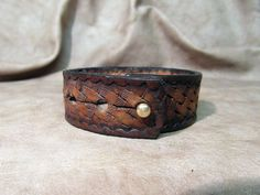 Brown Leather Cock Strap Ring, Leather Ball Stretcher, Bondage Accessories, BDSM Penis Ring, Erection Enhancer, Bespoke Sex toys, Gift