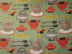 Super cute vintage fabric.