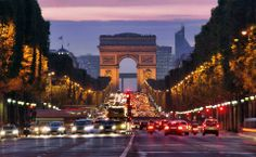 Champs-Elysees avenue in Paris, France
