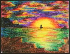 Image result for crayon art drawings Crayon Drawings, Cool Drawings, Crayola Art, Nifty Crafts, Beautiful Artwork, Architecture Art, Cute Art, Art Lessons, Art For Kids