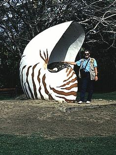 Fiji...nautilus model in city park