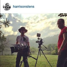 @harrisonslens shooting a #movie with an #ikan #monitor out in the #field at this #beautiful #location ⭐️⭐️⭐️#filmlife #film #setlife #movies #cinema #production #equipment