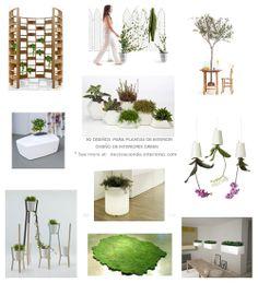 10 diseños originales para plantas de Interior   Diseño de Interiores • 10 Green interior designs