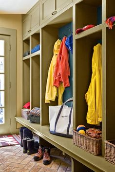 Custom built-ins cater to kids obsessed with baseball, parents who collect running shoes, and four seasons' worth of outerwear. | Photo: Jim Westphalen | thisoldhouse.com
