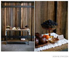 Seattle Organic Wedding By Jasmine Star. Love the wood and table setup...gorgeous shot Jasmine!