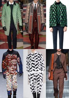 Menswear A/W 15-16 Print trend highlights: London, Paris & Milan – Part 1 - Geo Puzzles