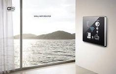 Black-Embedded-Walls-Wireless-AP-Router-Wireless-WIFI-USB-Charging-Socket-Panel