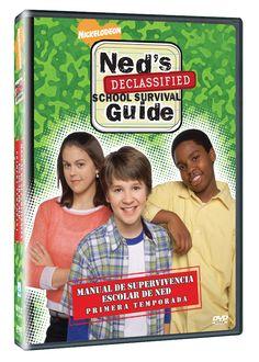 Diseño publicitario de DVD's - Stop Diseño Gráfico - Diseño de Manual de supervivencia escolar de Ned - Primera Temporada - Nickelodeon.
