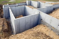 HomeAdvisor's Foundation Cost Guide calcualtes average per sq. prices for building concrete slab and pier & beam foundations. Costs for add a new basement or crawl space under your home. Pier And Beam Foundation, Building Foundation, Foundation Repair, House Foundation, Cinder Block House, Cinder Block Walls, Building Costs, Building A House, Concrete Slab Foundation
