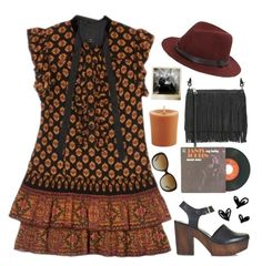 """""""boho with a touch of Marsala"""" by karineminzonwilson ❤ liked on Polyvore featuring Anna Sui, Rebecca Minkoff, Topshop, Polaroid, Janis, rag & bone, Pier 1 Imports, Coach, boho and Bohemian"""