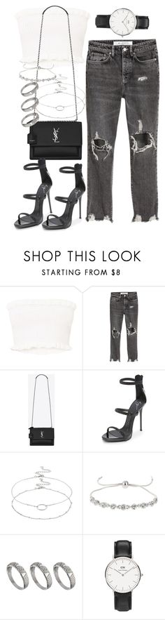 """""""Untitled #2564"""" by mariie00h ❤ liked on Polyvore featuring Yves Saint Laurent, Giuseppe Zanotti, Accessorize, Miss Selfridge, ASOS and Daniel Wellington"""