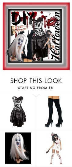 """""""H☻ppy"""" by followerr ❤ liked on Polyvore featuring halloweencostume and DIYHalloween"""