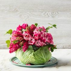 DIY Cabbage Flower Centerpiece: Perfect for your Mother's Day table