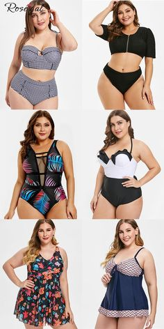 b222c4a22f7879 New Plus Size Swimsuit Trend 2019 #Rosegal #womenfashion #swimsuit -  #Rosegal #